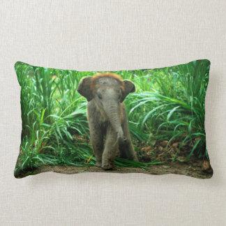 Elephant and Grass Lumbar Pillow