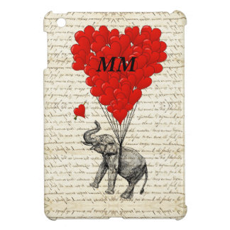 Elephant and heart balloon cover for the iPad mini