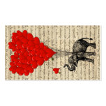 Elephant and heart shaped balloons Double-Sided standard business cards (Pack of 100)