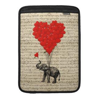 Elephant and heart shaped balloons MacBook air sleeve