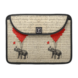Elephant and heart shaped balloons sleeves for MacBooks