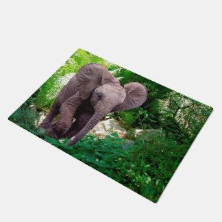 Elephant and Jungle Doormat