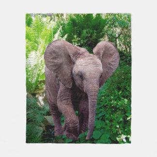 Elephant and Jungle Fleece Blanket
