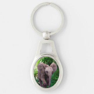 Elephant and Jungle Keychain