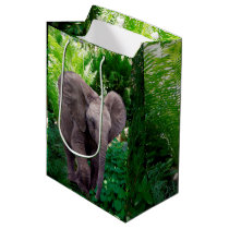 Elephant and Jungle Medium Gift Bag