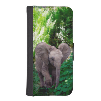 Elephant and Jungle Wallet Phone Case For iPhone SE/5/5s