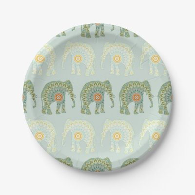 sc 1 st  Zazzle & blue elephant indian folk art paper plate | Zazzle.com