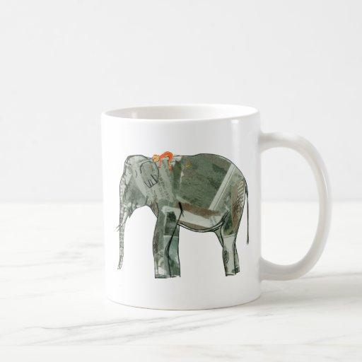 Elephant and monkey coffee mug