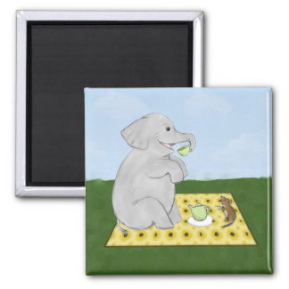 Elephant and Mouse Tea Party Magnet