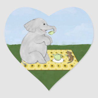 Elephant and Mouse Tea Party Stickers