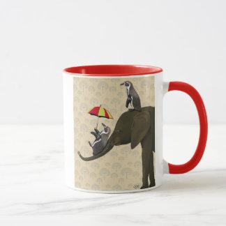Elephant and Penguins Mug