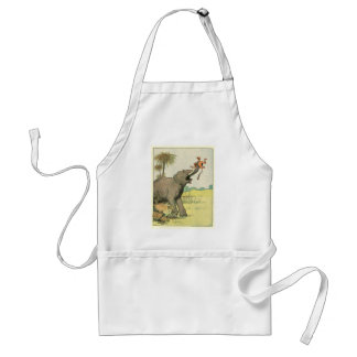 Elephant and Poacher in the Jungle Adult Apron