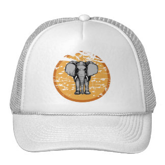 Elephant and Vintage Faded Sun Trucker Hat
