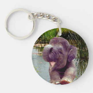 Elephant and Water Keychain