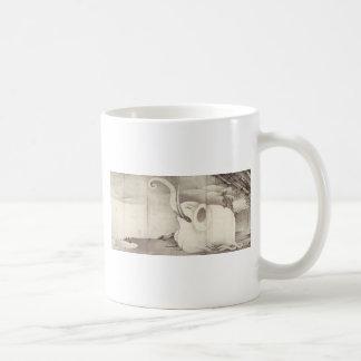 Elephant and Whale (diptych) by Ito Jakuchu Coffee Mug