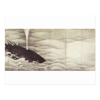Elephant and Whale (diptych) by Ito Jakuchu Postcard