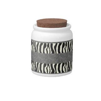 elephant and zebra candy jar