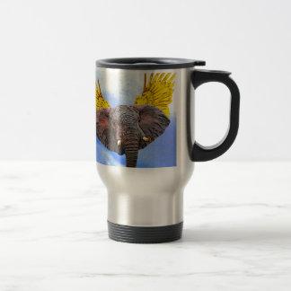 Elephant Angel Travel Mug