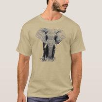 Elephant - Animal Artwork T-Shirt