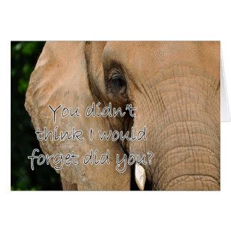 Elephant Animal Happy Boss s Boss Day Card