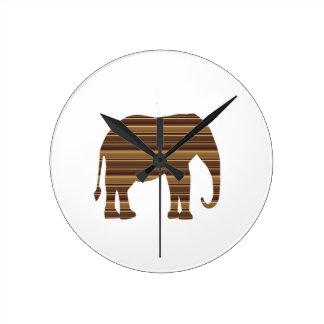 ELEPHANT Animal Tree Trunk Zoo Kids NVN699 FUN Round Wall Clock