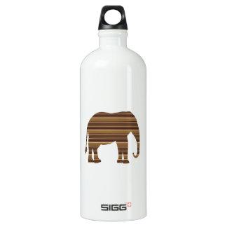 ELEPHANT animal wild pet Gold Stripe Brown NVN286 Aluminum Water Bottle
