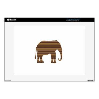 "ELEPHANT animal wild pet Gold Stripe Brown NVN286 Decal For 15"" Laptop"