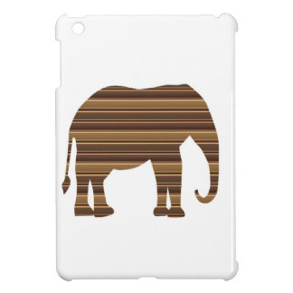 ELEPHANT animal wild pet Gold Stripe Brown NVN286 Cover For The iPad Mini