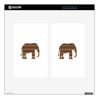 ELEPHANT animal wild pet Gold Stripe Brown NVN286 Kindle Fire Decals