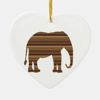 ELEPHANT animal wild pet Gold Stripe Brown NVN286 Christmas Ornaments