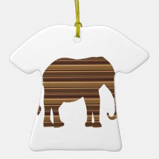 ELEPHANT animal wild pet Gold Stripe Brown NVN286 Ornaments