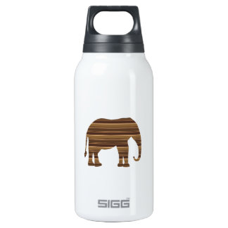 ELEPHANT animal wild pet Gold Stripe Brown NVN286 10 Oz Insulated SIGG Thermos Water Bottle