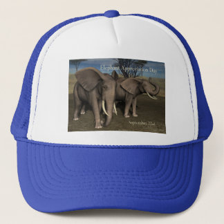 Elephant Appreciation Day Cap September 22