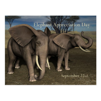 Elephant Appreciation Day PostCard September 22