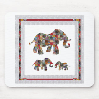 ELEPHANT Artistic Collection Patches KIDS NVN478 b Mouse Pad