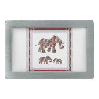 ELEPHANT Artistic Collection Patches KIDS NVN478 b Rectangular Belt Buckle