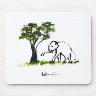 "Elephant Artwork ""Just Me"" Mouse Pad"