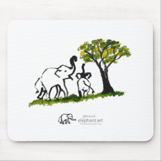 """Elephant Artwork """"Just The Two Of Us"""" Mouse Pad"""