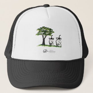 """Elephant Artwork """"Just The Two Of Us"""" Trucker Hat"""