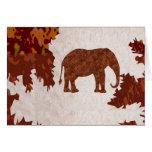 ELEPHANT : ArtWork on Copper Sheet Greeting Card