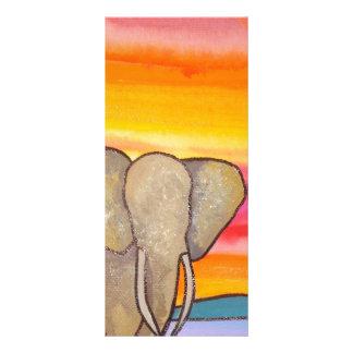 Elephant at Sunset in Africa (K. Turnbull Art) Rack Card