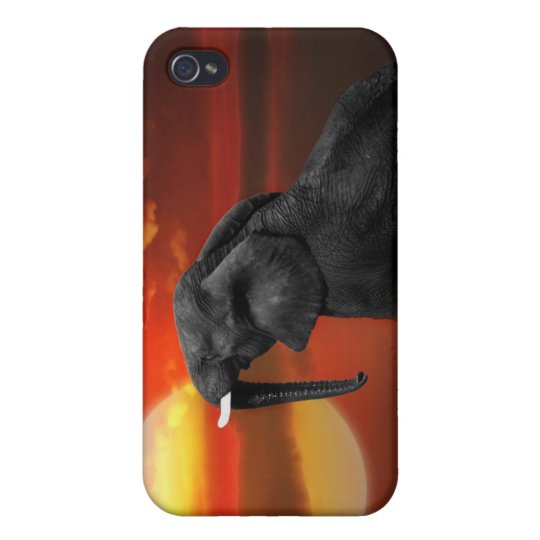 Elephant at the lake iPhone 4/4S cover