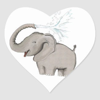 Elephant AVAL Heart Sticker