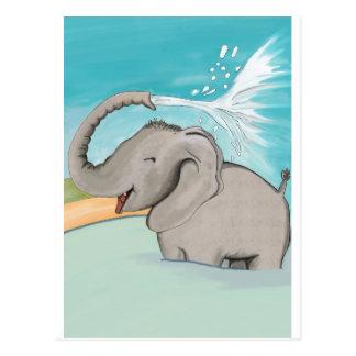 Elephant AVAL Postcard
