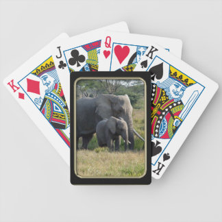 Elephant Baby and Mom Photo Art Playing Cards