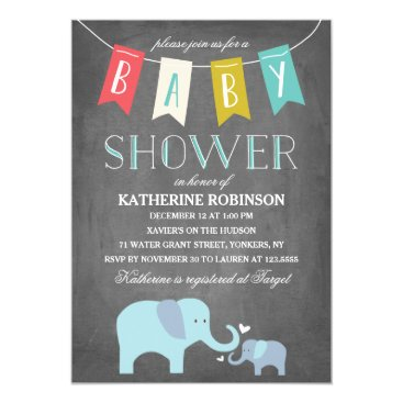 Toddler & Baby themed Elephant Baby | Baby Shower Invitation