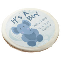 Elephant Baby Boy Announcement - Sugar Cookie