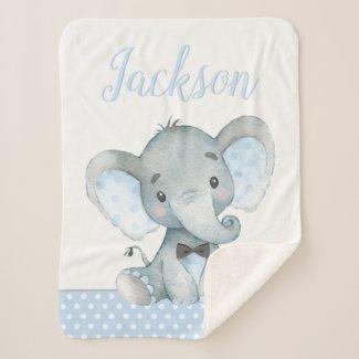 Elephant Baby Boy Blanket