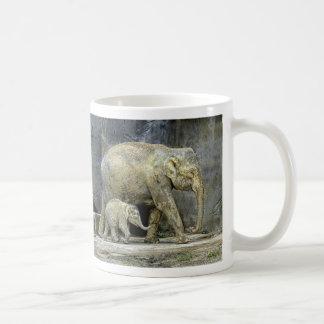 Elephant Baby Calf & Mom Coffee Mug