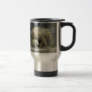 Elephant Baby Calf & Mom Travel Mug